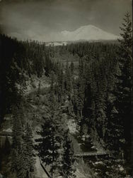 Mt. Shasta From Sacramento River Original Photograph