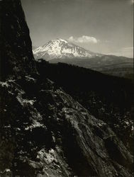 Mt. Shasta and Base of Castle Rock Original Photograph