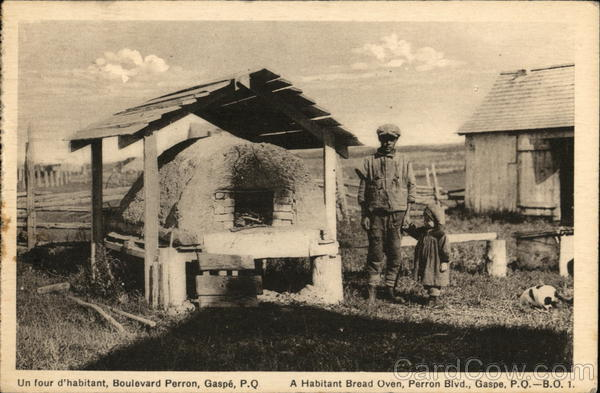 A Habitant Bread Oven Gaspe Canada Quebec