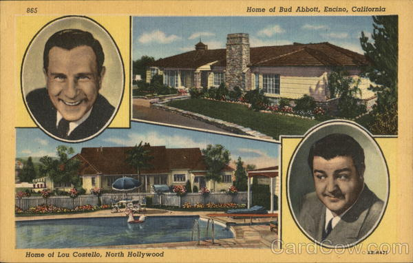 Abbott and Costello and their Homes Celebrities