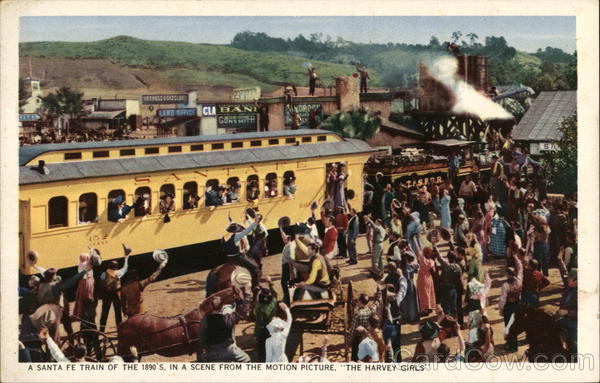 A Santa Fe Train of the 1890's in a Scene From the Motion Picture The Harvey Girls