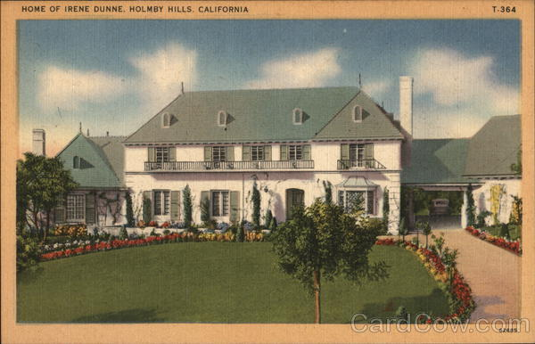 Home of Irene Dunne, Holmby Hills Los Angeles California