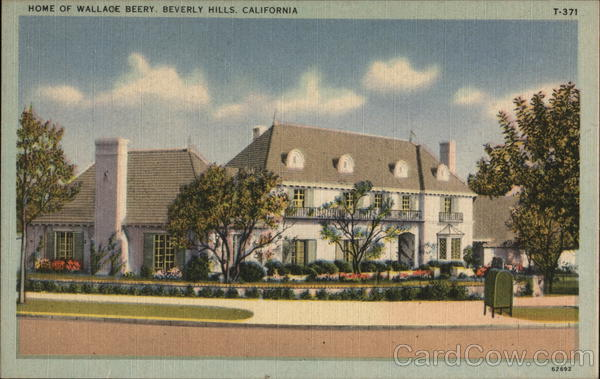 Home of Wallace Berry Beverly Hills California