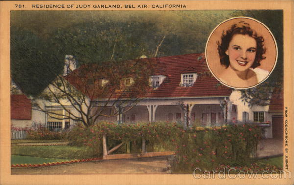 Residence of Judy Garland Bel Air California