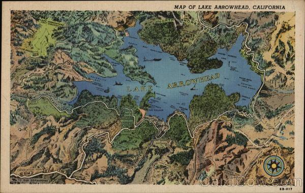 Map of Lake Arrowhead, CA California