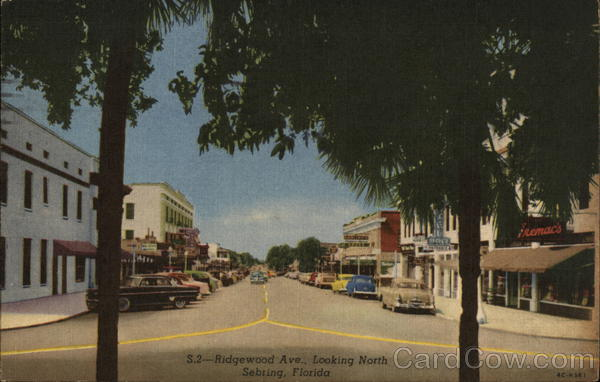 Ridgewood Ave., Looking North Sebring Florida