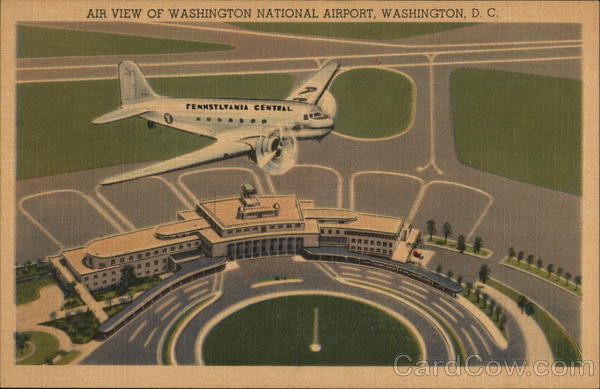 Air View of National Airport Washington District of Columbia