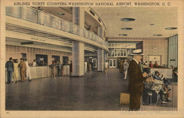 Airlines Ticket Counters, National Airport Washington District of Columbia
