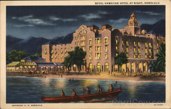Royal Hawaiian Hotel at Night, Honolulu