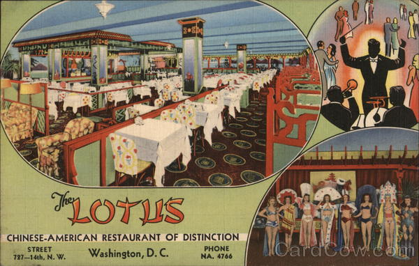 The lotus chinese american restaurant of distinction for American cuisine washington dc
