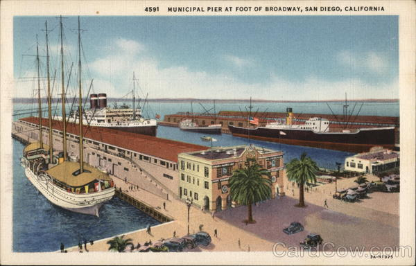 4591 Municipal Pier at Foot of Broadway San Diego California