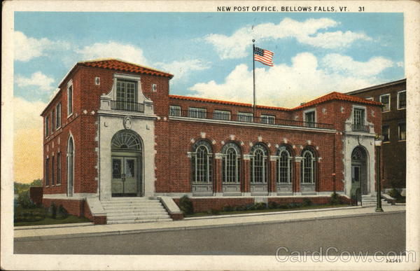 New Post Office Bellows Falls Vermont
