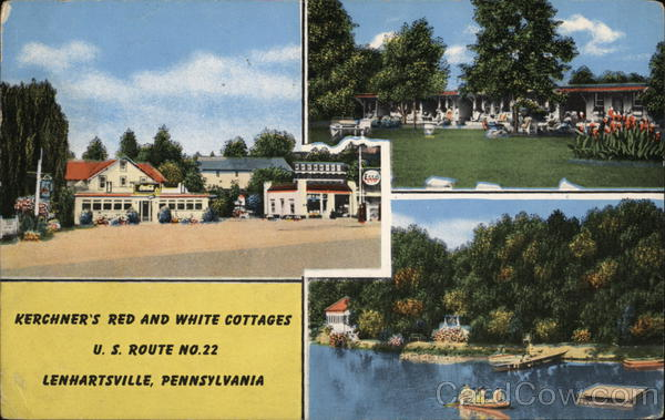 Kerchner's Red And White Cottage, U. S. Route No. 22 Lenhartsville Pennsylvania
