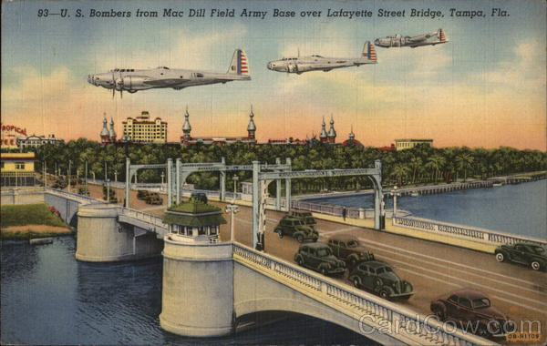 U.S. Bombers from Mac Dill Field Army Base Tampa Florida