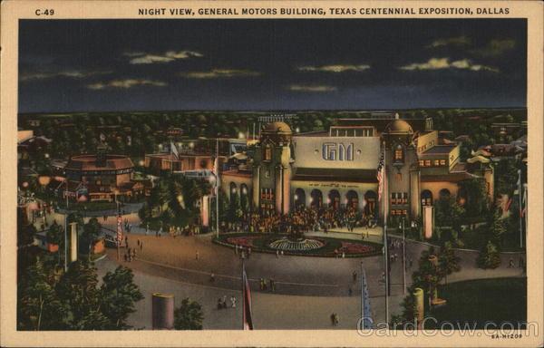 Night view general motors building texas centennial for General motors jobs dallas tx