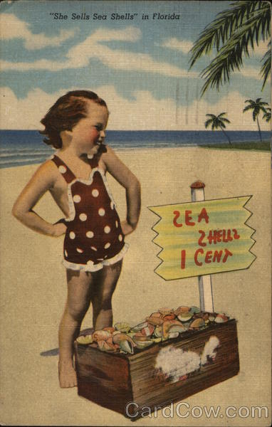 She Sells Sea Shells Florida Children