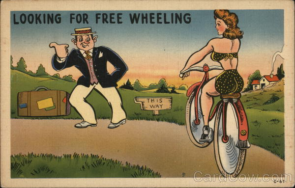 Looking For Free Wheeling Comic, Funny Bicycles