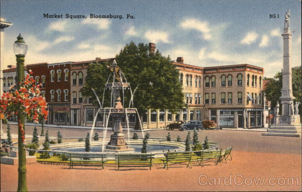 View of Market Square Bloomsburg Pennsylvania