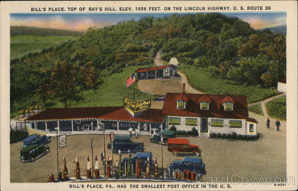 Bill's Place, Top of Ray Hill. Elev. 1958 Feet. Brockway Pennsylvania