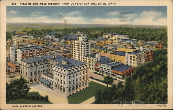 314 View of Business District from Dome of Capitol, Boise, Idaho