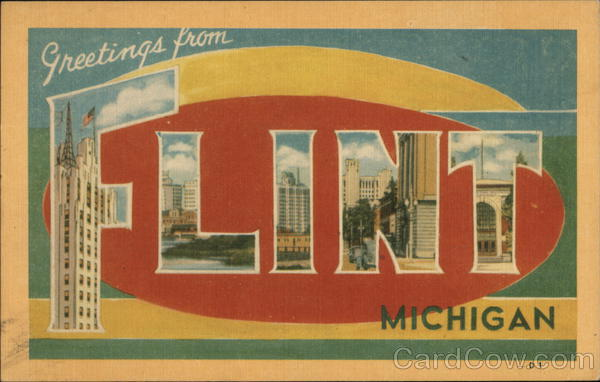 Greetings from Flint, Michigan Large Letter