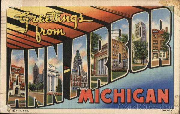 Greetings from Ann Arbor, Michigan Large Letter