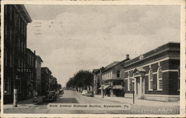 Main Avenue, Business Section Myerstown Pennsylvania