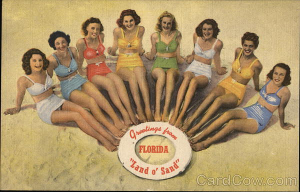 Greetings From Florida Florida Cypress Gardens Swimsuits & Pinup