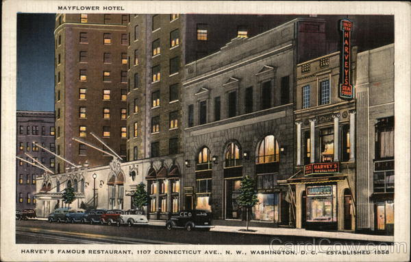 Mayflower Hotel and Harvey's Restaurant Washington District of Columbia