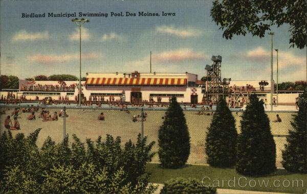 Birdland municipal swimming pool des moines ia postcard - Decorah municipal swimming pool decorah ia ...