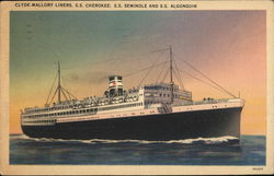 Clyde-Mallory Liners, S.S. Cherokee; S.S. Seminole and S.S. Algonquin