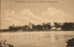 View Across Brandy Pond to Bay of Naples Inn Postcard