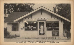 Hays Tourist Home and Cabins Postcard