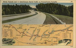 Seven Tunnels and 11 Interchanges Speed Traffic on Pennsylvania Turnpike