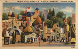 Oriental Section, Streets of All Nations, Texas Centennial Exposition, Dallas