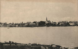 Harbor and Town View Postcard