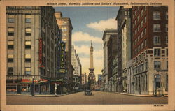 Market Street, Showing Soldiers and Sailors Monument