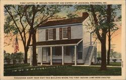 First Capitol of Indiana Territory and District of Louisiana Postcard