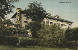 View of Hillside Hotel Postcard