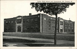 Junior High School and gymnasium