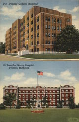 General Hospital and St. Joseph's Mercy Hospital Postcard