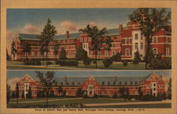 Views of Abbott Hall and Mason Hall, Michigan State College