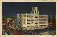 Night View of P.H.C. Building and State Street