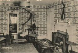 Interior View of Whitehall Inn Postcard