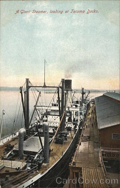 A Giant Steamer Loading at Jamaica Docks Steamers