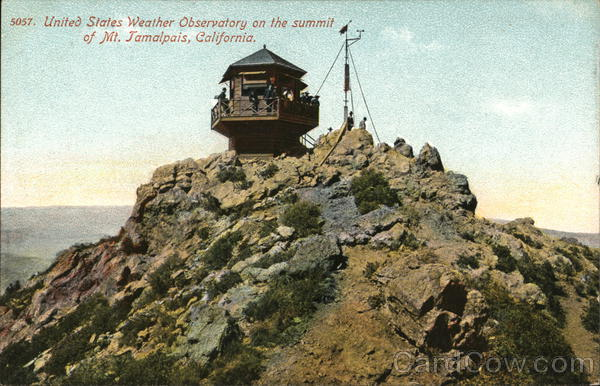 US Weather Observatory on Summit, Mount Tamalpais Mill Valley California