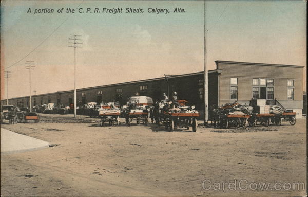 A Portion of the C.P. R. Freight Sheds Calgary Canada