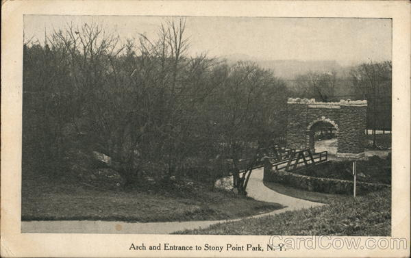 Arch and Entrance to Stoney Point Park Stony Point New York