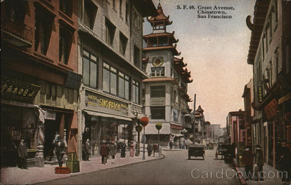 Grant Avenue, Chinatown San Francisco California