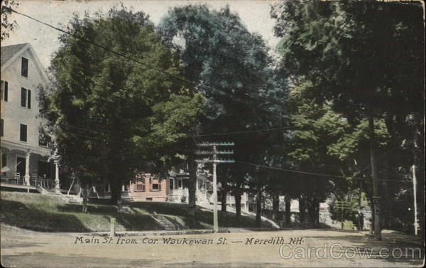 Main St. From Cor. Waukewan St. Meredith New Hampshire